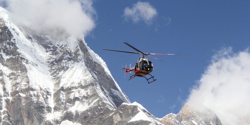 Helicopter Mountain flight Annapurna